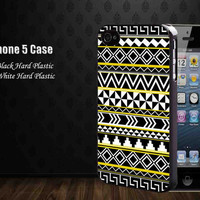 Tribal Patterns Black White Yellow,Iphone 5 case,iphone 4,4S,samsung galaxy s2,s3,s4 cases, accesories case,cell phone