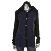 Style & Co. Womens Knit Long Sleeves Hooded Sweater