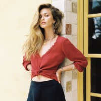 Sahara Blouse in Rouge