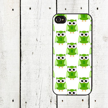 Green Owls iPhone Case - for iphone 4,4s and iPhone 5 - St. Patrick's Day