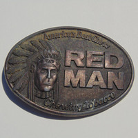 Red Man Americas Best Chew Chewing Tobacco belt buckle