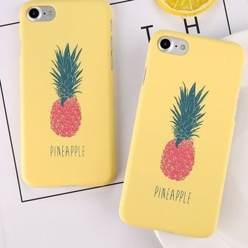 Pineapple iPhone Case - For iPhone 7 Plus Matte For iPhone X 8 7 6 6S 663e6f93e6f8