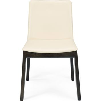 Montecristo Dining Chair Solid Beech Wood Leatherette Seat (Set of 2)