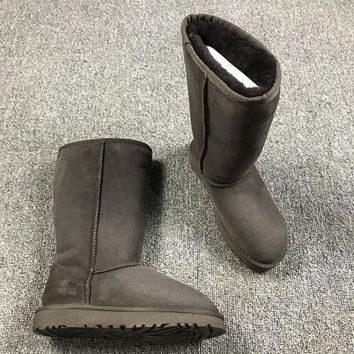 NOV9O2 Ugg 5815 Brown Classic II Tall Boot Sheepskin Boots Snow Boots