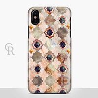 Art Deco Marble Phone Case For iPhone 8 iPhone 8 Plus - iPhone X - iPhone 7 Plus - iPhone 6 - iPhone 6S - iPhone SE - Samsung S8 iPhone 5