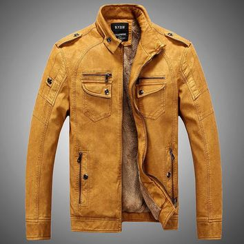 New Arrival 2018 Retro Leather Men's Jacket in Various Colors