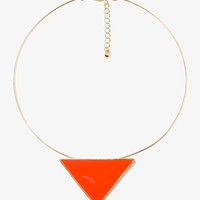 Lacquered Triangle Choker | FOREVER21 - 1021841343