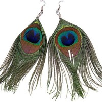 Peacock Feather Earrings [Toy]