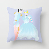 Disney - Cinderella and Prince Charming Throw Pillow by Jessica Slater Design & Illustration
