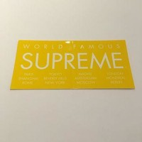 Supreme International Sticker - Yellow
