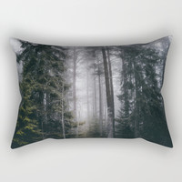 Into the forest we go Rectangular Pillow by happymelvin