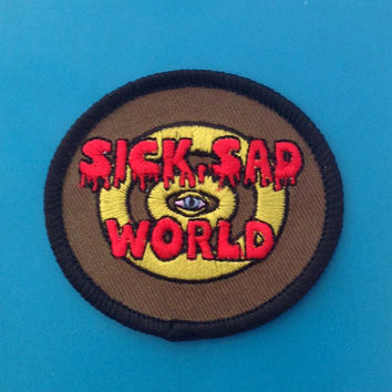 Sick Sad World Daria iron-on patch /// mtv 90s cartoon animation tv television pop culture embroidered woven gift stocking filler