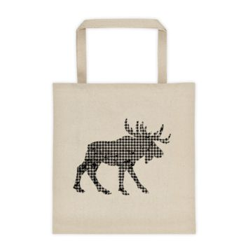 Houndstooth Moose - Tote bag