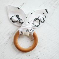 Wooden Teether in Bebe Oui