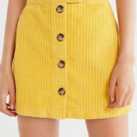 UO Jumbo Corduroy Button-Down Mini Skirt | Urban Outfitters