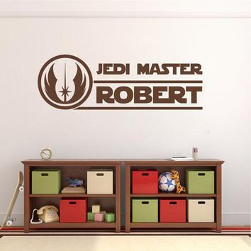 ik2205 Wall Decal Sticker for the name Jedi Master Star Wars children's room