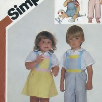 Simplicity 6311 Sewing Supply Pattern Toddlers Overalls, Jumper, And Sundress - No ENVELOPE - PATTERN UNCUT
