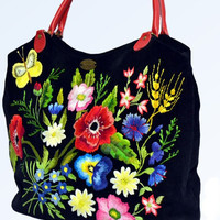 """Bag ladies embroidered with """"Sunny Mood"""""""