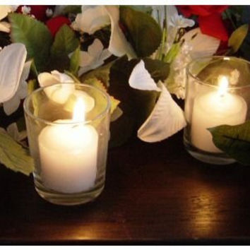 Spring Rose(TM) Clear Wedding Votive Candle Holders (set of 12). These Are Perfect For Party Favors Or Decorations. A Must For Your List Of Wedding Supplies.