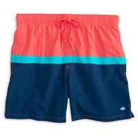Color Block Swim Trunk in Sunset by Southern Tide