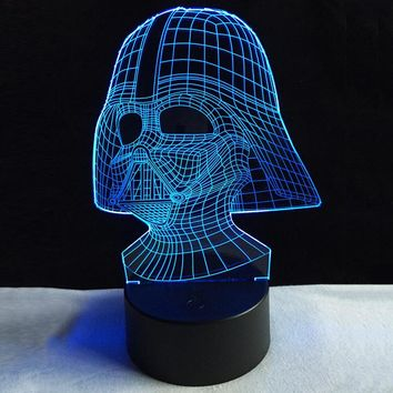 New 2018 Star Wars Darth Vader Dark Side Sith Warrior 3D LED Night Light Multicolor Color Changing Table Lamp