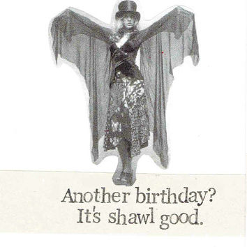 It's Shawl Good Stevie Nicks Birthday Card | Funny Fleetwood Mac Rock Music Humor Indie Vintage Fashion Pun Retro Women For Her