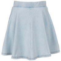 High Waisted Denim Look Skater - New In This Week - New In - Topshop