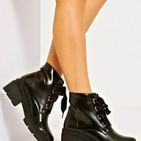 4th & Reckless Ribbon Lace Up Biker Boot