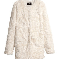 Fake fur jacket - from H&M