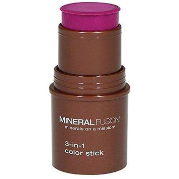 Mineral Fusion Makeup 3 in 1 Color Stick Berry Glow - .18 Oz