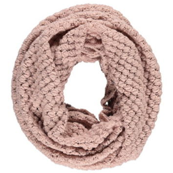 Bubble Knit Infinity Scarf