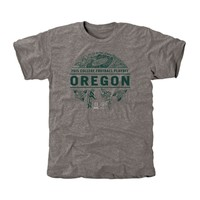 Oregon Ducks 2014 Rose Bowl Vintage Pin Tri-Blend T-Shirt - Ash