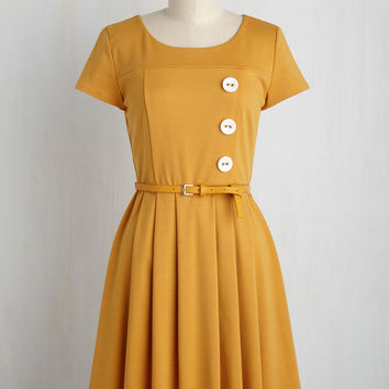 Happy Hosting Dress in Marigold | Mod Retro Vintage Dresses | ModCloth.com