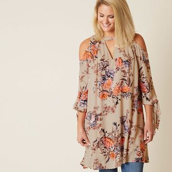MISS ME FLORAL TUNIC TOP