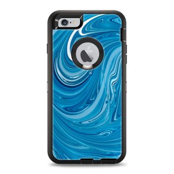 The Liquid Blue Color Fusion Apple iPhone 6 Plus Otterbox Defender Case Skin