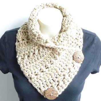 Crochet Scarf Pattern Crochet Cowl Pattern Neckwarmer Pattern Button Scarf Cowl with Buttons Crochet Pattern Cowl Scarf Pattern Pdf Pattern