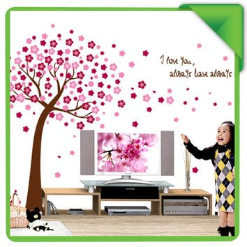 home decor decals Poster house Sticker Removable vinyl wall stickers Peach Tree large Wall paster for kids rooms SM6