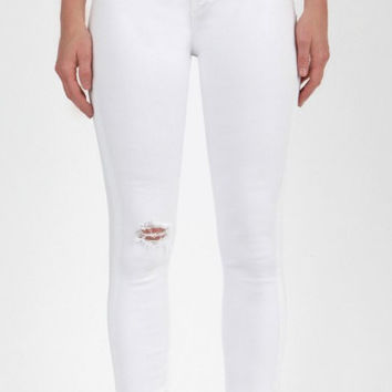 "Articles Of Society ""Carly Skinny Crop"" Jean -Whiteout"