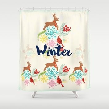 Winter Shower Curtain by Famenxt | Society6