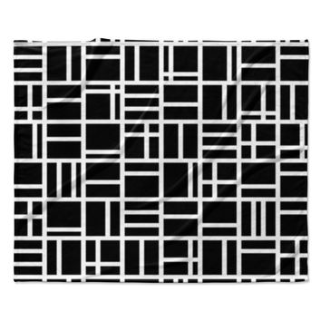 "Trebam ""Kutije"" Black White Fleece Throw Blanket"