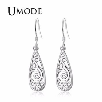 UMODE Hollow Vintage Women Drops Earrings Wedding Earrings for Brides Luxury Woman Accesoires Jewellery Indian Jewelry UE0416