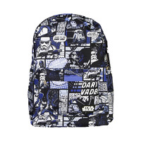 Star Wars comic print Vader/Jedi Backpack Blue Black OR Multi-Color Comic Print