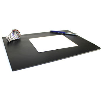 Leather Desk Pad - Black