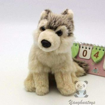 Wolf Cub Stuffed Animal Plush Toy 7""