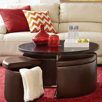 Neptune Coffee Table with Storage Ottomans - Coffee, Console & End Tables - furniture - Macy's