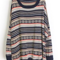 Geometric pattern Round Neck sweater$52.00