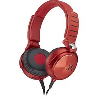 Sony - X-Series Over-the-Ear Headphones - Red/Black