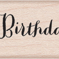 """Hero Arts Mounted Rubber Stamps 3""""""""X1.5""""""""-Happy Birthday"""