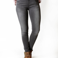 KUT from the Kloth Mia Toothpick Skinny Jean-Blessings-Grey Wash