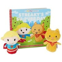itty bittys® Supergirl™ Streaky's Su-Purr Day Storybook and Stuffed Animals, Set of 2